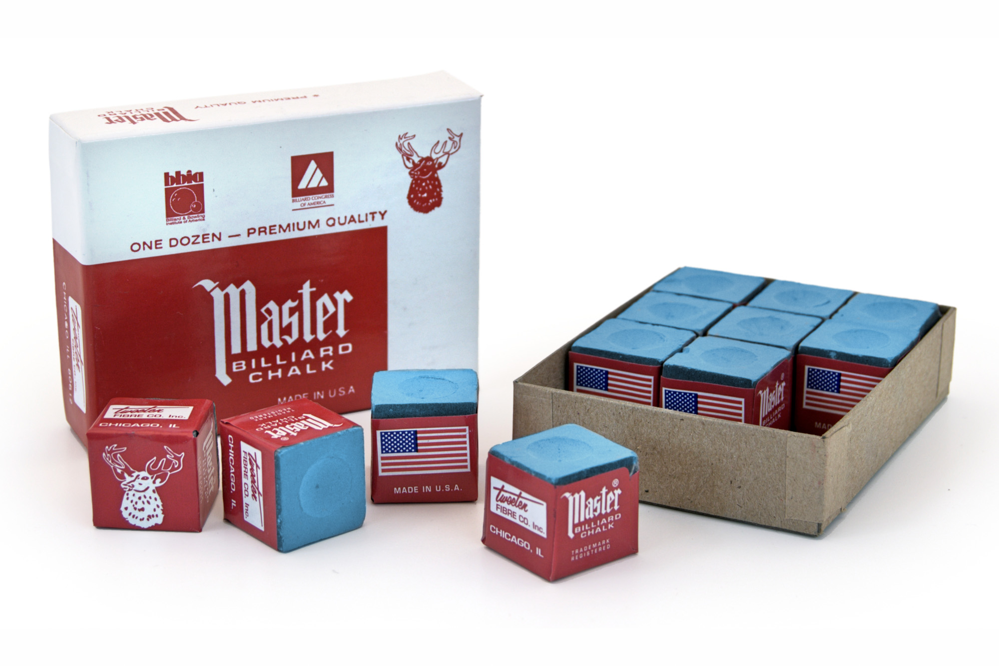 Billard Kreide  Master 144er Pack blau