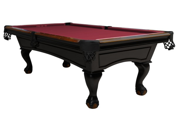 Billiard Table, Pool, Dover, 8 ft., Black