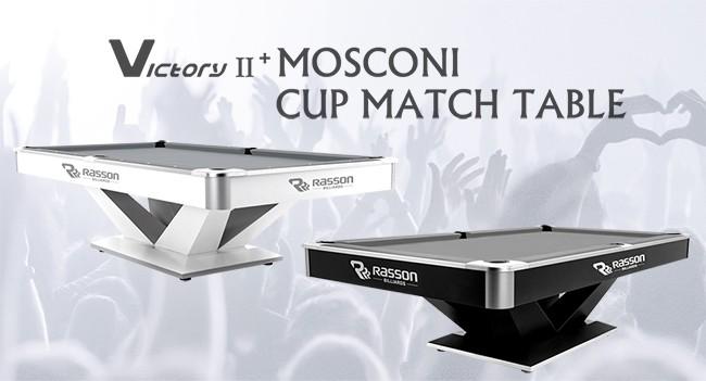 Billardtisch, Pool, Rasson Victory II Plus, schwarz, weiß, 8ft., 9ft.