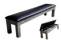Seat Bench for Billiard Table Penelope II, 8 ft., Silver Mist