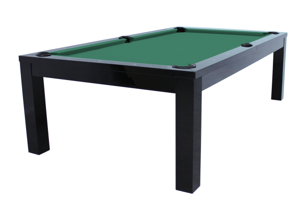 Billardtisch, Pool, Rasson Penelope II, 8 ft. (Fuß), schwarz-glänzend inkl. Abdeckplatte