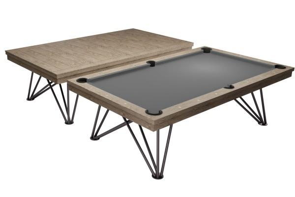 Billardtisch, Pool, Rasson Dauphine, 8 ft. (Fuß), grau gebeizte Eiche