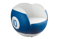 Chair No.10, BS3, blue/white