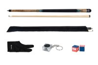 "Billiard cue set ""Delts Talos XL"", 7&16x18, pool + bag + chalk"