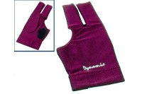 Glove Dynamic Deluxe 2, 3-finger, open, burgundy, Lycra,