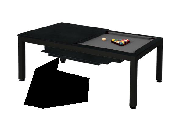 Billardtisch, Pool, Vancouver II, 7 ft. (Fuß), schwarz/schwarz