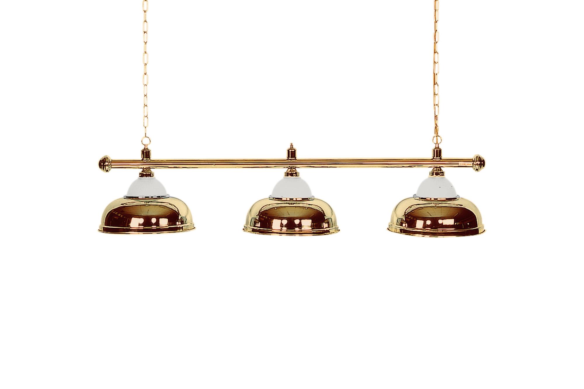 /Ø38cm 4 Schirme 146cm Billard Lampe Crown silber