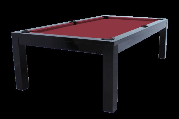 Billardtisch / Esstisch, Pool, Rasson Penelope II, inkl. Abdeckplatte, 8 ft. (Fuß), schwarz-glänzend