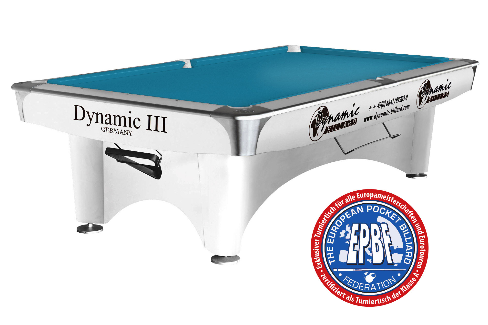 billardtisch pool dynamic iii 9 ft fu gl nzend wei pool billardtische 9ft fu. Black Bedroom Furniture Sets. Home Design Ideas