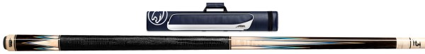 Billardqueue, Pool, Predator Truesplice-16, Ebony, 314-3, inkl. Roadline 2x2 case